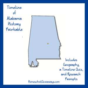 FREE Alabama State History Printable