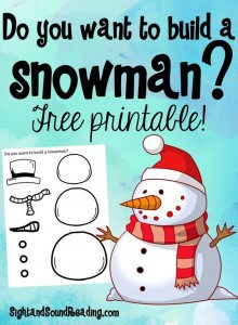Free Do You Want to Build a Snowman Printable