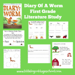 Diary of a Worm First Grade Literature Study