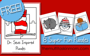 Dr. Seuss Inspired Puzzles
