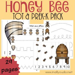 FREE Honey Bee Tot PreK-K Pack