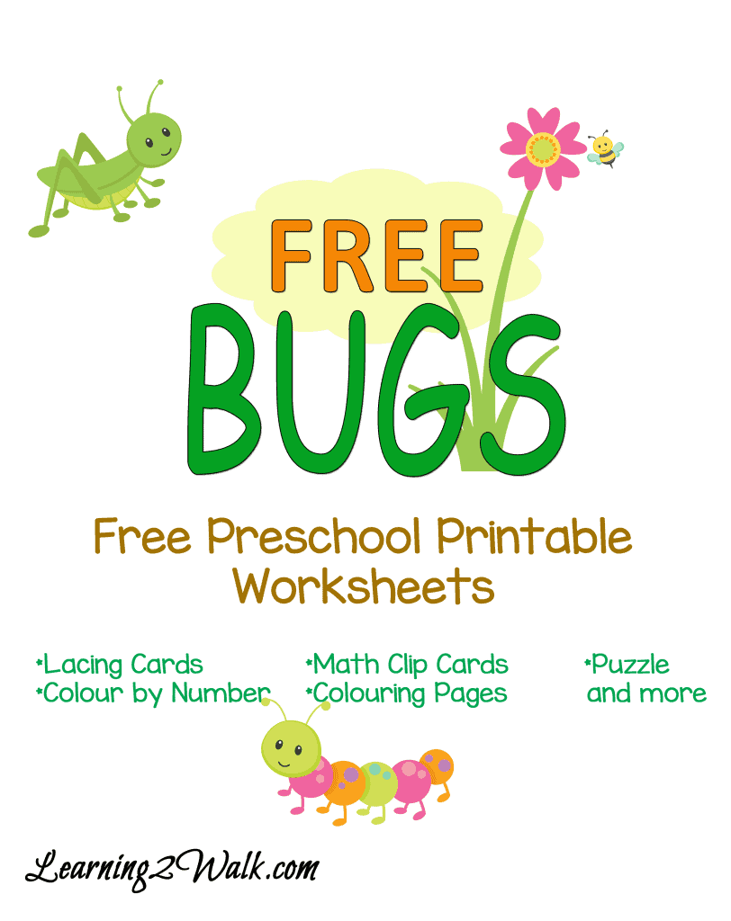 Free Preschool Bugs Worksheets - Homeschool Printables for Free