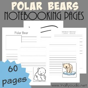 Free Polar Bear Notebooking pages