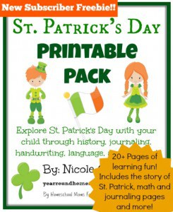 St. Patricks Day Printable Pack