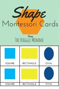 Free Printable Montessori 3-Part Cards For Teaching Shapes