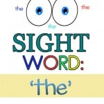 "FREE SIGHT WORD WORKSHEETS FOR ""THE"""