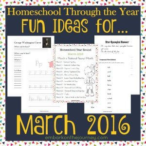 Homeschool Through the Year: March Activity Pack