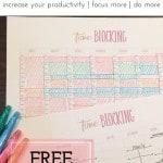 Time Blocking 101 plus free printable worksheets