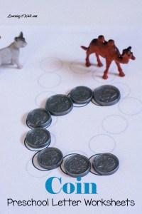 Free Coin Preschool Letter Worksheets