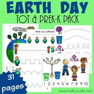 FREE Earth Day Tot & PreK-K Pack