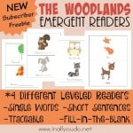 FREE The Woodlands Emergent Readers