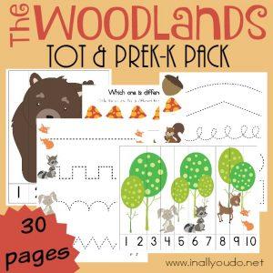 FREE Woodlands Tot & PreK-K Pack