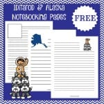Free Iditarod/Alaska Notebooking Pages