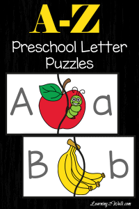 Free Preschool Letter Puzzles