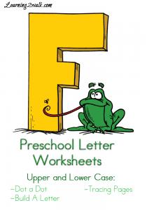 "Free Preschool Letter ""F"" Worksheets"