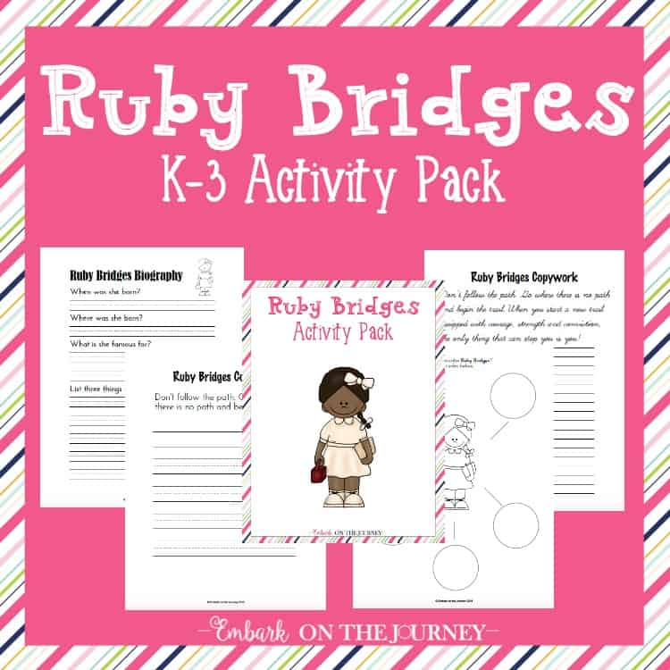 Ruby Bridges Activity Pack for K-3 - Homeschool Printables for Free