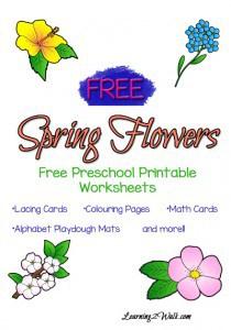 Free Spring Flowers Preschool Worksheets