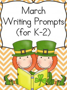 Free St. Patrick's day Writing Prompts (K-2)