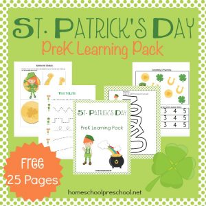 St. Patrick's day preschool printable