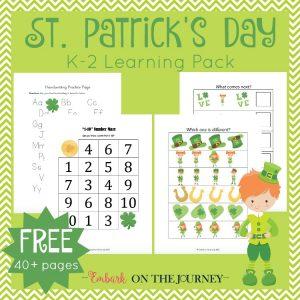 Free St. patrick's Day Printable for K-2