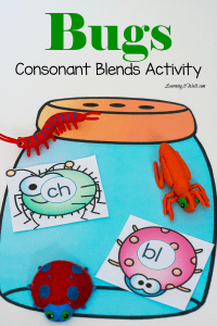 Free Bugs Consonant Blends Activities