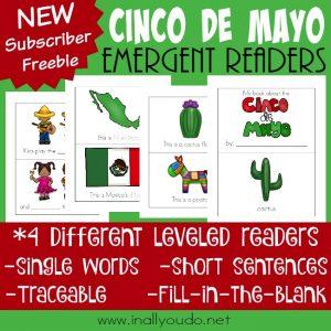 FREE Cinco de Mayo Emergent Readers