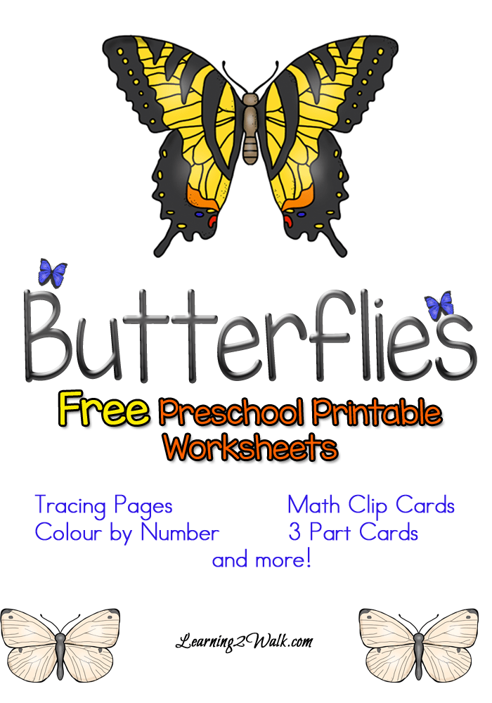 Free-Preschool-Printable-Worksheets-Butterflies