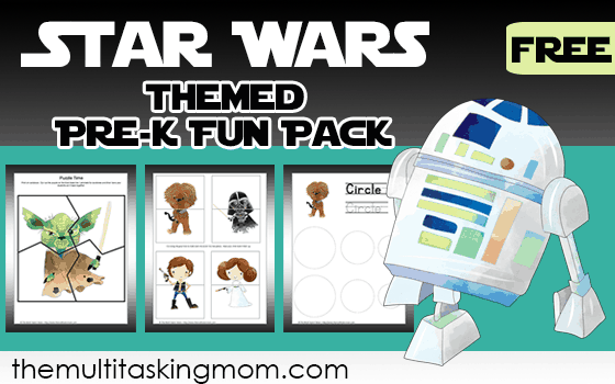 Star Wars Themed PreK Fun Pack free only at The Multi Tasking Mom