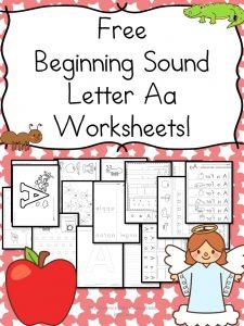 Free Beginning Sounds Letter 'a' Worksheets