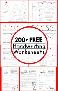 200 Free handwriting worksheets helping you save time and allowing you to focus your energy on other parts of your child's education.