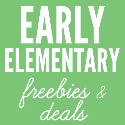 Early Elementary Freebies and Deals