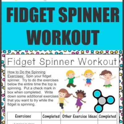Use that fidget spinner to get some energy out. Here is a new way to use that fidget spinner to burn real energy!!