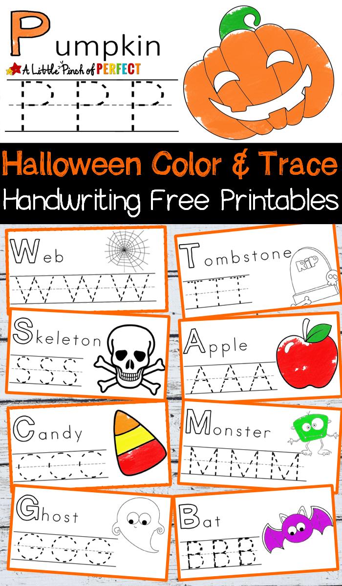Halloween Writing and Coloring Printables - Homeschool ...