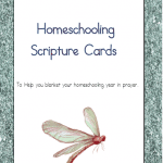 Scripture Cards for Your Homeschooling Year