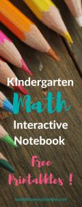 Kindergarten Math Interactive Notebook