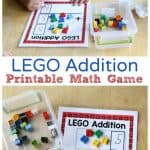 LEGO Math Game Mats