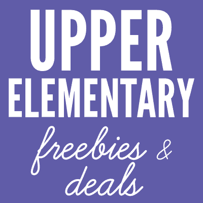 Upper Elementary Freebies and Deals