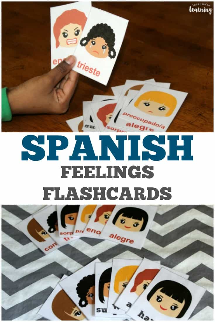 graphic relating to Spanish Flashcards Printable called Printable Spanish Inner thoughts Flashcards - Homeschool