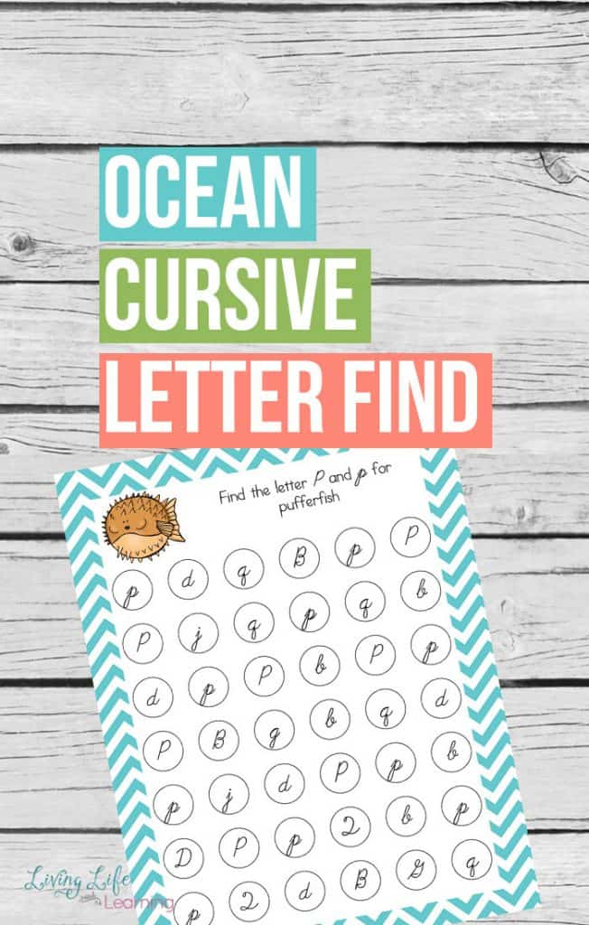 Recognizing cursive letters can sometimes be tricky. This little gem helps your child commit them to memory and allows them to have fun at the same time!