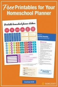 Printable Homeschool Planner Stickers