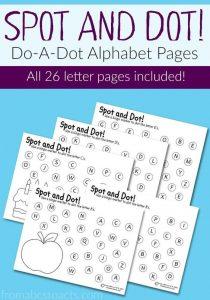 Spot and Dot: Do-A-Dot Alphabet Pages