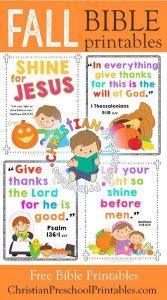 Thanksgiving Bible Printables & Crafts