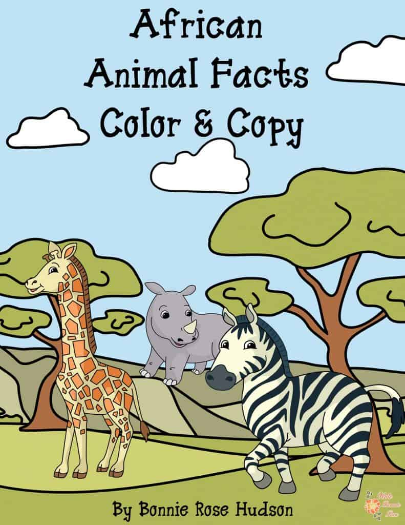 African Animal Facts Color & Copy