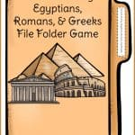 Ancient History File Folder Game