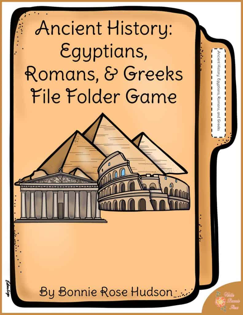 Ancient History Egyptians, Romans, and Greeks File Folder Game