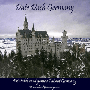 Date Dash Germany-German history printable card game