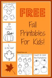 Free Fall Printable Activity Sheets