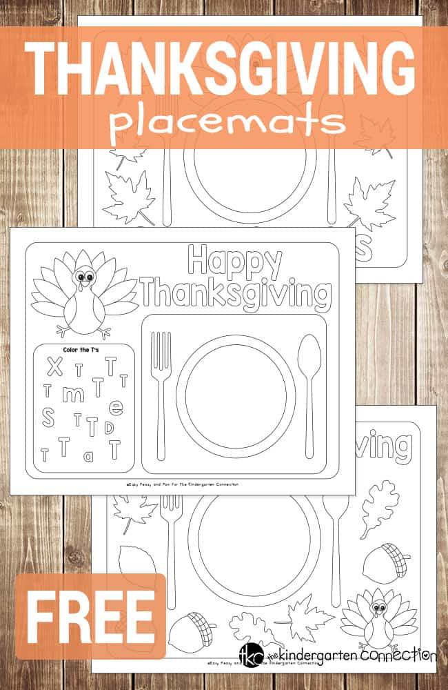 Fun Printable Thanksgiving Placemats Homeschool