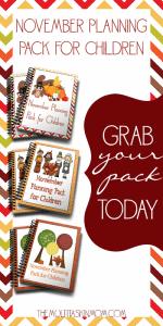 Free November Planning Packs for Children