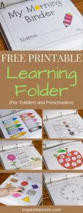 Printable Learning Folder for Preschoolers